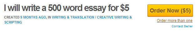 500 Word Essay For $5 On Fiverr.com