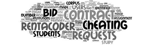 Contract Cheating Main Tag Cloud Logo