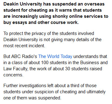Foreign Student Cheats Expose Shonky Online Trade ABC News
