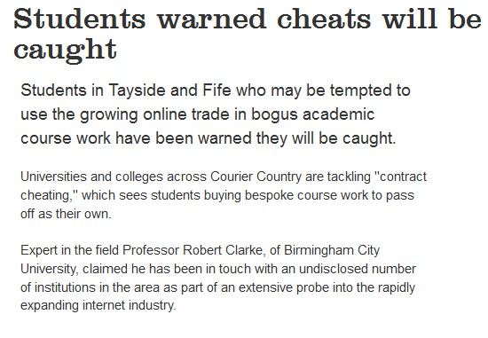 Students Warned Cheats Will Be Caught